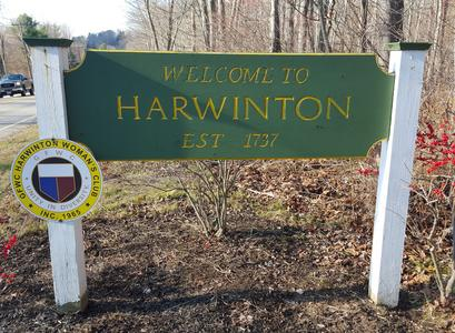 Welcome to Harwinton sign
